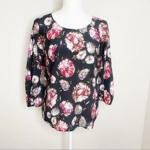 Anthropologie Maeve Floral Blouse Size S